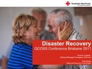 Disaster Recovery - Queensland Council of Social Service