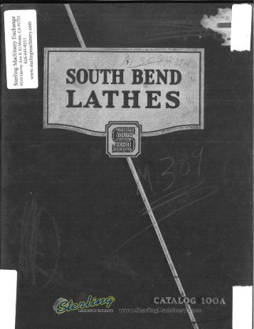 South Bend Lathes Brochure - Sterling Machinery