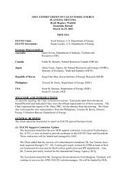 APEC Expert Group on Clean Fossil Energy