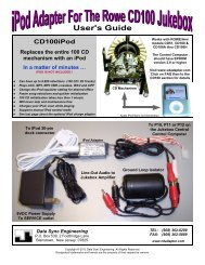 ipod kit for the rowe/ami r90-r94 jukebox - CD Changer