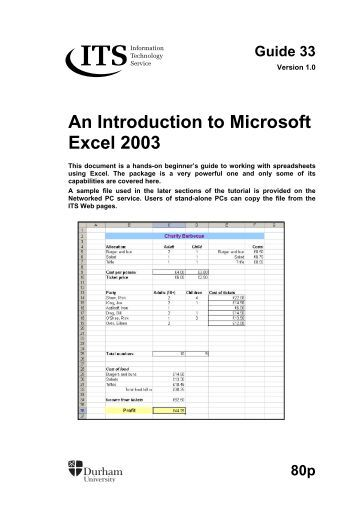 An introduction to microsoft office excel