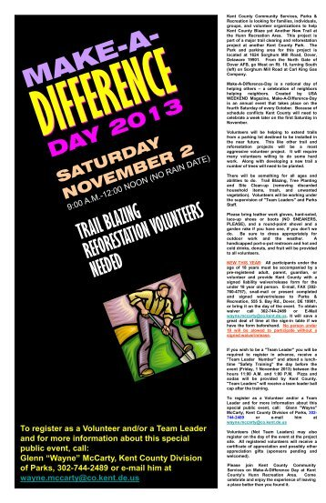 Make-A-Difference - Kent County Delaware