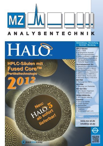 Halo - FusedCore Silica - at MZ-Analysentechnik