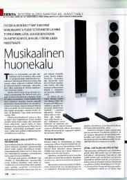TESTI: SYSTEM AUDlO MANTRA 60 -KAIUTTIMET - System Audio