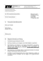 Abt. XB (Umweltnaturwissenschaften) Ökonomie I und II Schriftliche ...
