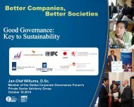Good Governance: Key to Sustainability - Global Corporate ...