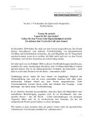 An den 1. Vorsitzenden des Sportverein Neuperlach, Norbert Kreitl ...