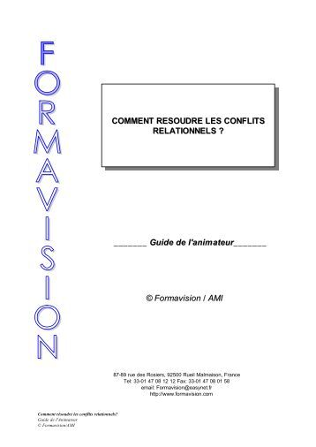 Comment resoudre les conflits - Formavision France