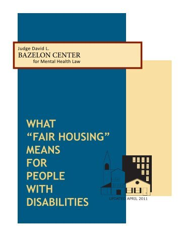 Fair Housing for Persons with Disabilities