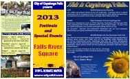 2013 Festival Brochure - Cuyahoga Falls