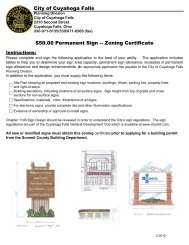 Permanent Signage Zoning Permit Application - Cuyahoga Falls