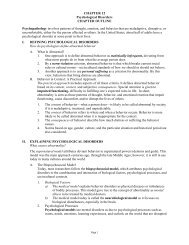 CHAPTER 12 Psychological Disorders CHAPTER OUTLINE ...