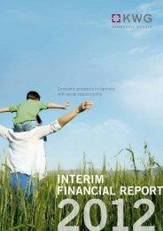 INTERIM FINANCIAL REPORT - KWG Kommunale Wohnen AG