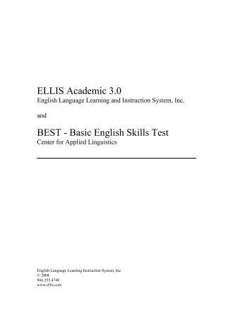 ELLIS Academic 3.0 BEST - Basic English Skills Test