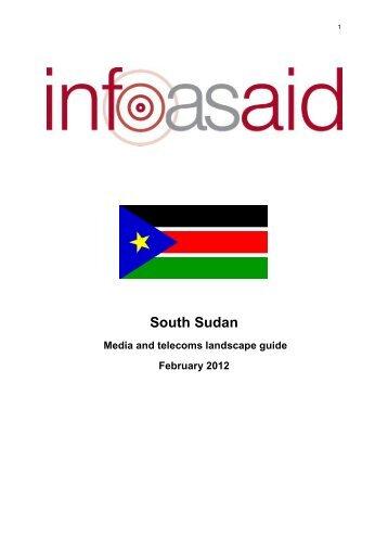 media landscape guide about South Sudan - Internews