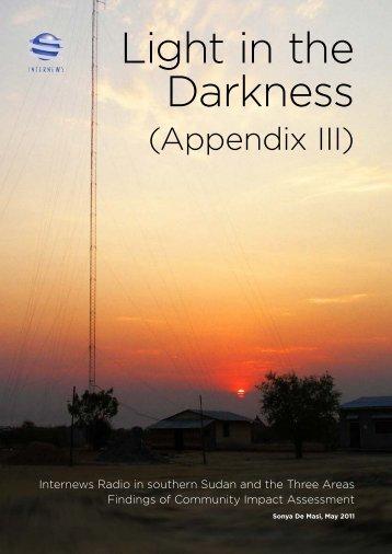Appendix - Internews