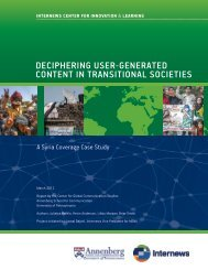 Deciphering User-Generated Content in Transitional ... - Internews