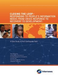Closing the loop– Responding to people's infoRmation ... - Internews