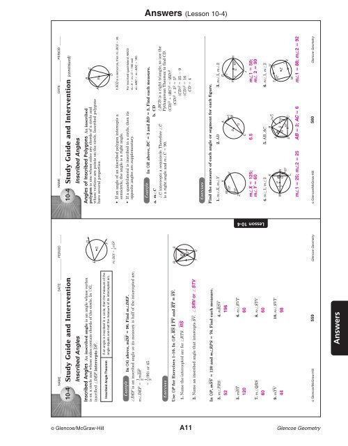 Lesson 10 4 Jones College Prep