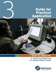 Section 3: Guide for practical application - Internews