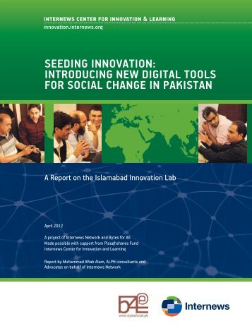introducing new digital toolS for Social change in PakiStan - irada