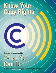 What You Can Do - Know Your Copy Rights