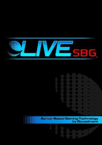 LIVE SBG Brochure - Blueprint Gaming