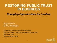 Restoring Public Trust in Business - Corporate Communication ...