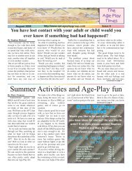 Issue 6 - Age Play Times