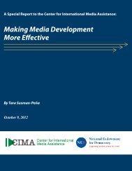 Making Media Development More Effective - Internews