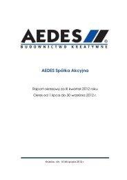 Raport okresowy za III kwartał 2012 roku