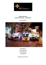 Raport Kwartalny za okres 01.01.2013 r. - 31.03.2013 r. I kwartał ...