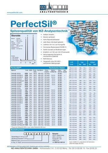 PerfectSil® 100 CN-3 PerfectSil® 100 C8-3 PerfectSil® 100 NH2 ...