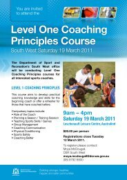Level 1 coaching principles course - www .dalyellupfc .com .au