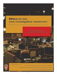 Ethics for the new investigative newsroom - WisconsinWatch.org