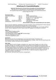 Anleitung XL Koaxialhelikopter - MZ Modellbau