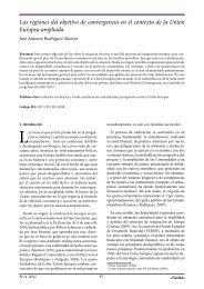 Las regiones del objetivo de convergencia en el contexto ... - extoikos