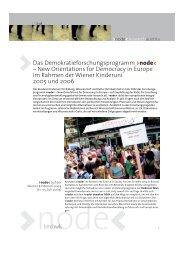 Gesamtbericht zu >node< im Rahmen der Kinderuni 2005 und 2006