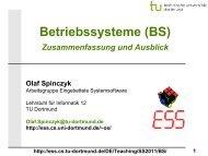 BS: 14 - Zusammenfassung und Ausblick (kurz) - TU Dortmund