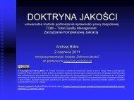 Prezentacja Doktryna jakości 2 czerwca 2011