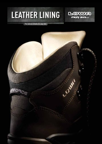 LEATHER LINING - Lowa Boots