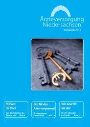 """Download Ausgabe 01/2012 - Ã""""rzteversorgung Niedersachsen"""