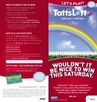 TattsLotto® offers an estimated Division 1 prize pool of $4 million ...
