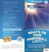 Powerball Guide