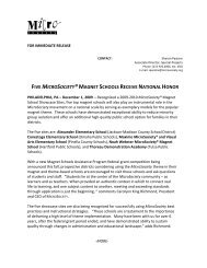 Click this link to read a recent press release about MicroSociety's ...