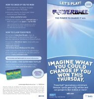Powerball Lets Play Guide - Tatts Group Limited
