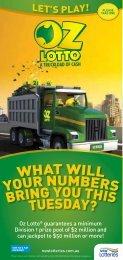 Oz Lotto® guarantees a minimum Division 1 prize pool of $2 million ...