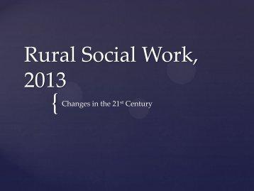 C 1 Ginsberg Rural Social Work, 2013