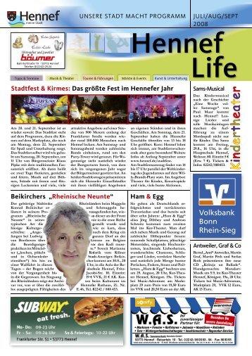 Stadtfest & Kirmes: Das größte Fest im Hennefer Jahr
