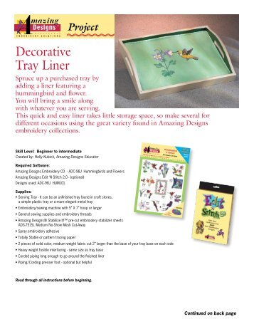 Decorative Tray Liner - Amazing Designs Blog